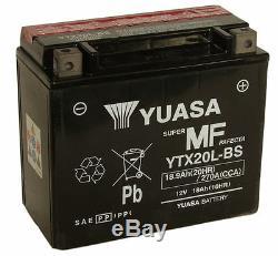 Yuasa YTX20L-BS, 12v 18Ah 270 Cca Moto Batterie Inc Kit de Remplissage